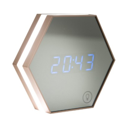 Multifunctional Mirror Alarm Clock for Office Bedroom Use Sophisticated Infinitely Adjustable Light LED Clock Clearly Visible Time Display Cosmetic Mirror