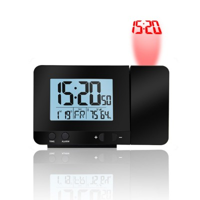 Large LED Display Screen Multifunctional Projection Clock for Bedroom Office Living Room Digital Alarm Clock Durable Mechanical Movement Clock