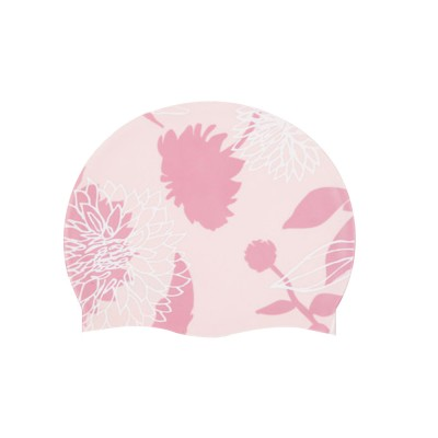Soft Silicone Swimming Cap with Stylish Swan Pattern Super Elastic Ear Protection for Adult Kids