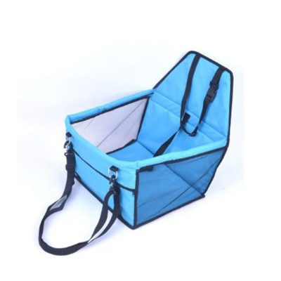 Collapsible Pet Booster Car Seat Cat Car Carrier with Safety Leash and Zipper Storage Pocket with 2 Support Bars for Small Dog