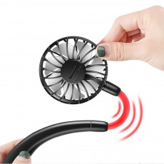 Mini Usb Neck Fan Neckband Small Desk Fan Handheld Wearable Rechargeable Air Cooling Fan