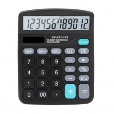 12 Digit Dual Power Source Calculator Standard Basic Calculator with Large LCD Display and Large Buttons for Office Supplies