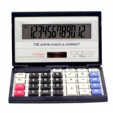 12 Digit Dual Power Source Calculator Folding 112 Check Correct Function Calculator with Large LCD Display and Large Buttons for Office Supplies
