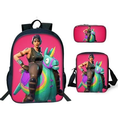 Stylish School Backpack Set with Colorful Pattern Comfortable Adjustable Shoulder Strap
