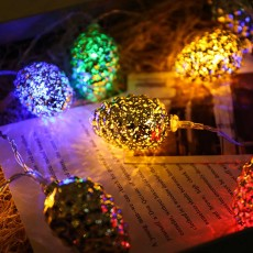 1.5m 3m Decorative Light Led Flashing String Lights Snowflake Pine Core Shape Lamp Certified Power Supply for Garden Party Wedding Holiday Decoration