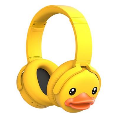 B.Duck Bluetooth Headphones Wireless Headset for Women Men Mobile Noise Reduction Sports Headphones Music Stereo