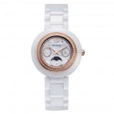Women's Ceramic Bracelet Wrist Watch with Swarovski Crystal Decoration and Japanese-quartz Movement
