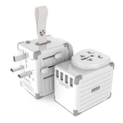 Portable Multifunctional Universal Adaptor Charge-over Plug Travel Abroad Phone Electronic Equipments Charger with 4 USB Ports