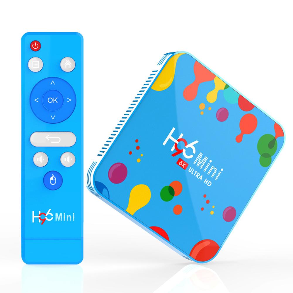 Tinkleo H96 Mini H6 Smart TV Box Android 9.0 4G Ram+128G ROM Media Player ...