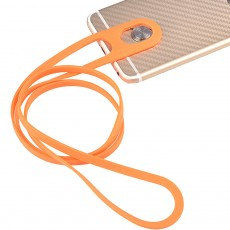 Creative Portable Convenient Elastic Silicone Mobile Phone Sling Rotatable Adjustable Smartphone Hanging Rope