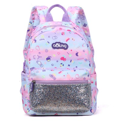 Colorful Paillette Backpack Portable Lovely Packsack Schoolbag for School Children Dacron Fabric Waterproof Book Bag Wear Resistant Schoolbag