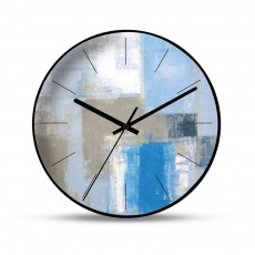 Non-ticking Wall Clock 12 Inch 14 Inch Round Clock Powered by Battery with Metal Frame HD Glass Cover for Home Office