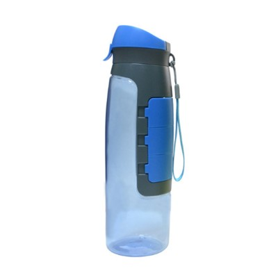 Outdoor Large Capacity Sports Bottles Pill Case for Riding Driving Office Food Grade BPA Free Medicine Storage Water Kettle Portable Plastic Water Cup