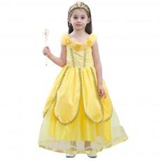 Three-dimensional Flower Pattern Princess Dress Elegant Bubble Skirt for Girl Kids' Wear Pure Cotton Lining Children's Skirt Halloween Day 2019