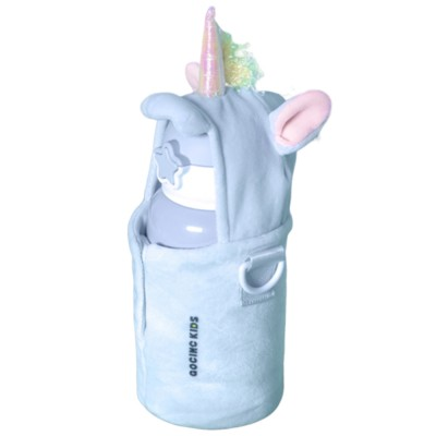 500ML Kids Mug 304 Stainless Steel Thermal Bottle With Unicorn Shoulder Strap for Keeping Warm 6-12 Hours