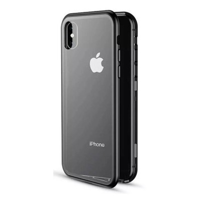 Magnetic Adsorption Phone Case Double-Sided Tempered Glass Protection Shell Compatible for iPhone 6 7 8 11 XS Max & XS