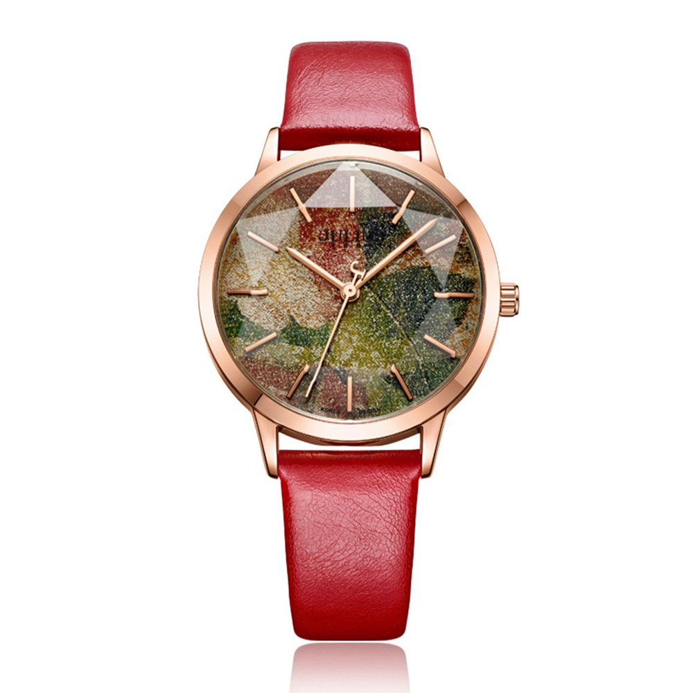Inimitable Women Wristwatch with Film Dial and J-shape Second Hand Japanese Miyota Quartz Movement Watch for Women Wear Fashionable Waterproof Wrist Watch