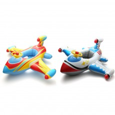 Kids Plane Big Swim Ring PVC Child Swim Seat Cartoon Floating Ring Toys Swimming Accessories for Kids Load Bearing 30KG