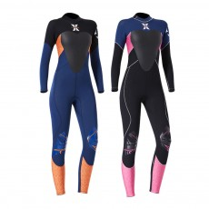 Women Full Body Wetsuits Premium 3mm Neoprene UV Protection Back Zip Diving Suits for Snorkeling Surfing Swimming Suit Jumpsuit