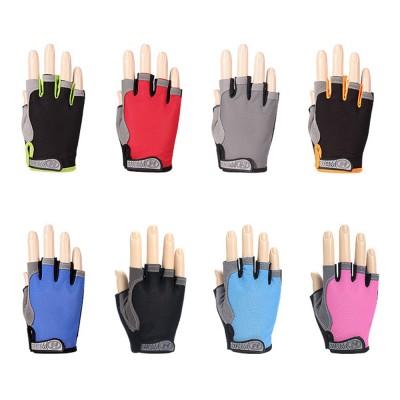 Cycling Gloves Half Finger Mesh Mountain Riding Gloves with Lightweight Anti-Slip Shock-Absorbing Biking Gloves for Men and Women