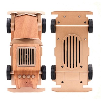 Retro Car Shaped Bluetooth Speaker With Fm Radio Built In Microphone Support Hands Free Phone Calls Portable Audio Video