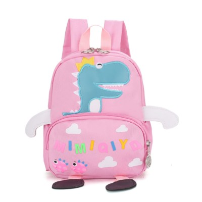 Cartoon Child's Schoolbag Durable Waterproof Kindergarten Backpack Lovely Dinosaur Pattern Knapsack Packsack for Elementary Students
