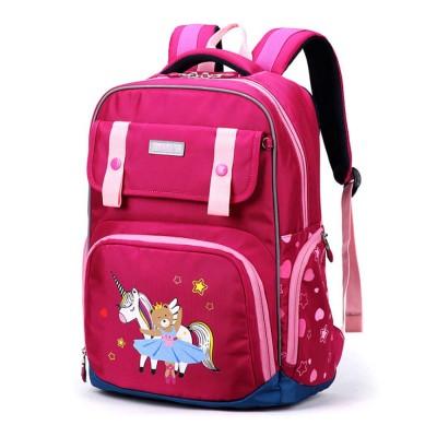 Durable Schoolbag Backpack for Elementary School Students Waterproof Wear Resistant Large Capacity Multipurpose Bookbag