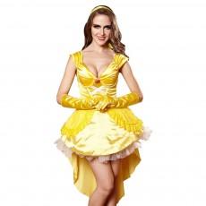 Western Style Cosplay Princess Dress Cartoon Apparel Uniform for Halloween' s Day Performance Sexy Underwear Uniform Three-piece