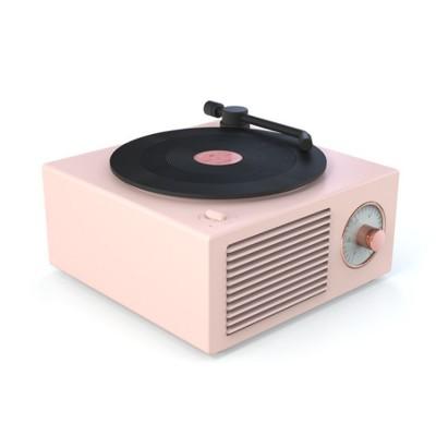 Retro Vinyl Record Bluetooth Speaker Wireless Mini Subwoofer Portable Loudspeaker Box USB Rechargeable Baffle Box Nice Christmas Birthday Present