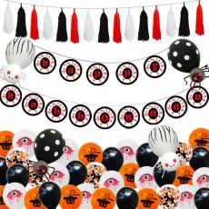 Halloween Balloon Suit Horror Eye Pendant Halloween Flag Pulling Halloween Decorations