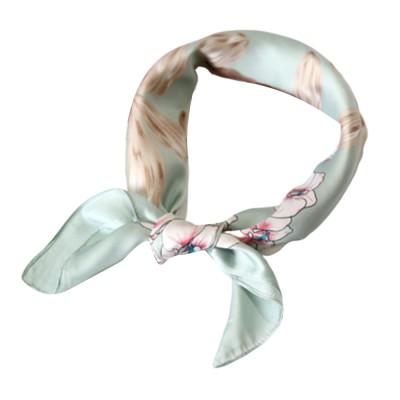 Hot Style Women Scarf Ribbon Flower Decorative Neck Female Tie Multipurpose Silk Scarf Ribbon Hair Belt and Bag Korean Scarf