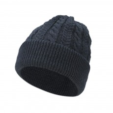 Men's Winter Thick Wool Hat Middle-aged Hats Head Earmuffs Knit Warm Hats Wool Line Old Man Caps Stripes