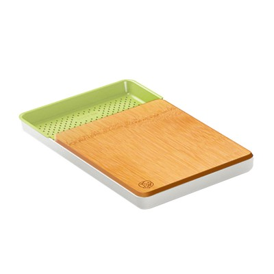 Multi-function Bamboo Cutting Board Baby Food Supplement Fruit Plastic Chopping Board Set Combination
