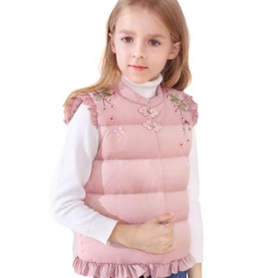 Girls Feather Vest Children's Light Vest Feather Inner Gallbladder Autumn and Winter New Baby Wear Warm Vest Outside Vest