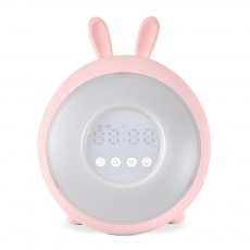 Sweet Dream Time Rabbit Wake Up Lamp Alarm Clock Sunrise Simulation New Children Alarm Night Light Creative Bunny Mood Light Clock