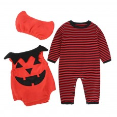 3pcs Suit Halloween Style Baby Clothes Baby Clothes in Autumn and Winter Halloween Pumpkin Suit