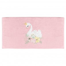 Original Design Cute Fancy Funny Swan Printed Round Light Female Towel For Outdoor Beach Travel And Spa