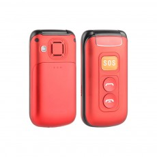 2.4 Inch Screen Flip Mobile Phone With Sos Key Older Mobile Phone Dual Sim Card Cell Phone With Big Button