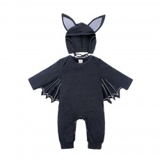 Boys And Girls Europe Spring And Autumn Halloween Batman Hooded One-Piece Shirt Two-Piece Children's Clothing