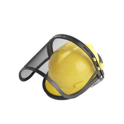 Gardening Safety Helmet Full Face Mask For Glass Cutter With Steel Mesh Visor Protective Earmuff Industrial Helmet Safety Face Shield