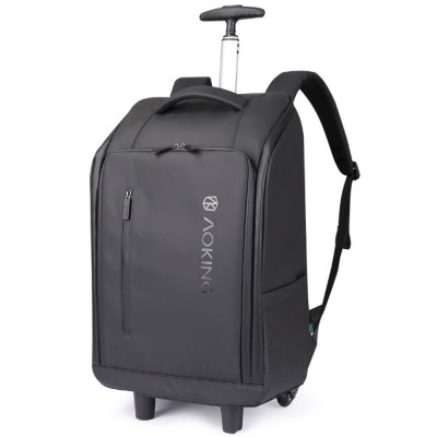 Business Style Tie-rod Backpack Boarding Shoulder Travel Bag Male and Female Large Capacity Schoolbag Computer Bag