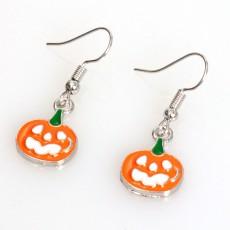 Euramerican Pumpkin Earrings Halloween Drop Dangle Earrings for Lady Girl Women Halloween Party Decoration