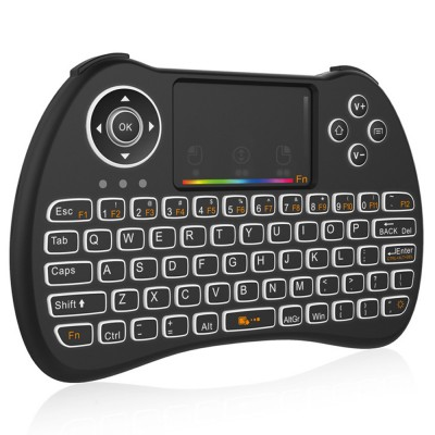 Colorful Backlit Keyboard with Touchpad for Desktop Computer Tablet X-BOX Wireless Mini Keyboard Touch Control Multimedia HTPC Keyboard