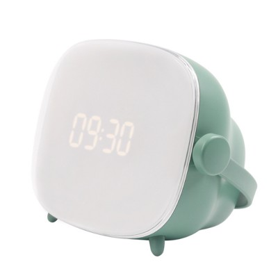TV Clock Lamp for Indoors Bedroom Retro TV-designed Night Light USB Chargeable LED Table Lamp Button Switch Alarm Clock