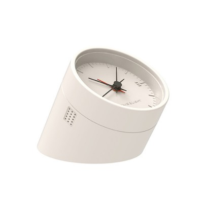 Retroflected Rhombus Night Light Clock for Bedroom Office Rechargeable Snooze Alarm Clock Indoors Household Night Lamp Timer