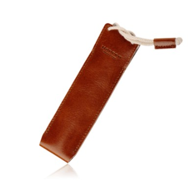 Minimalist Vintage Business Tough Soft Leather Pen Bag Pencil Case with Delicate Stitching Smooth Wool Felt Lining