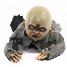 Horrific Halloween Bar Spook House Decoration Crawling Baby Ghost Ornament Prop with Sound Touch Sensor