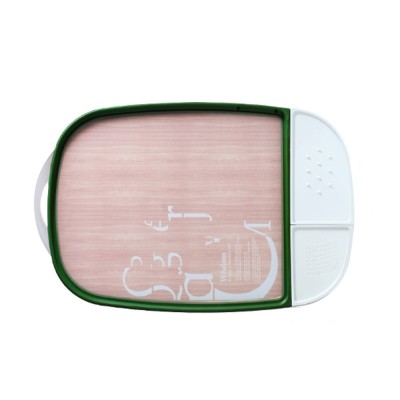 Multifunctional Double-sided Usable Chopping Board with Handle Detachable Two Storage Cases Ginger Knife Grinder Meat Punch