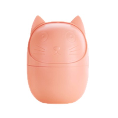 Cute Creative Cartoon Cat Small Desktop Garbage Bin Household Bedroom Office Table Storage Bucket with Cover