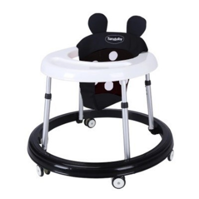 Infant Walker Walking Chair for Six to Eighteen Months Old Babies BPA Free Anti-rollover Baby Walker Foldable Baby Walking Frames Height-Adjustable Walker